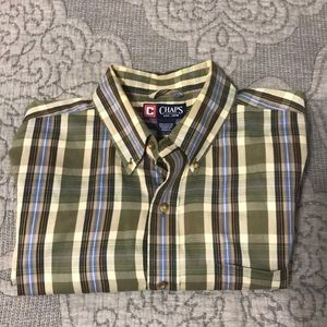 Men's Chaps Shirt Long Sleeve Size L Pre-owned